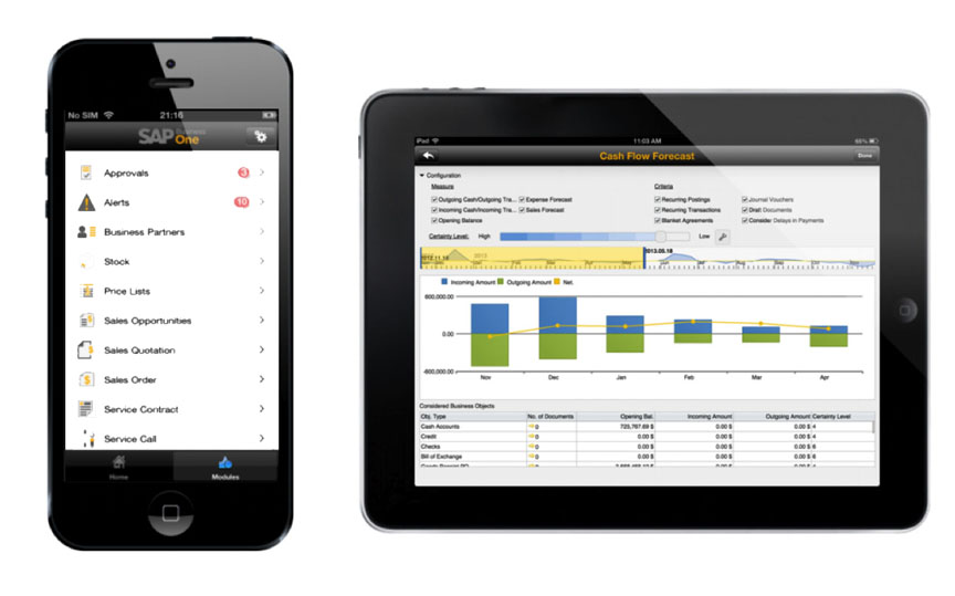 Sap Business One Mobile App For Iphone And Ipad 193 Baco